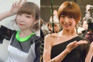 ハナエモンスターと篠田麻里子が似てる