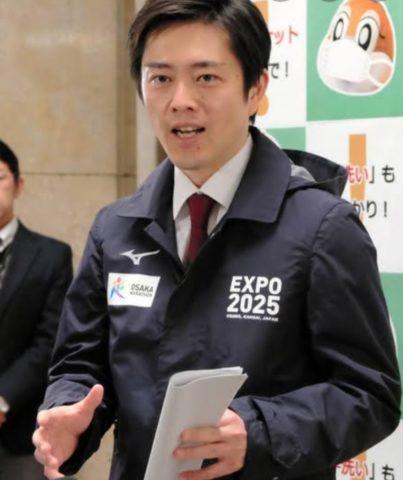 吉村知事のブルゾンのメーカーははミズノ