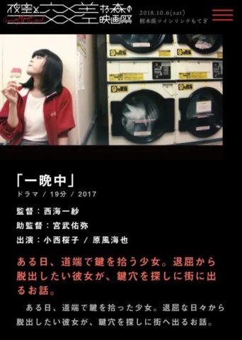 小西桜子の初出演映画「一晩中」